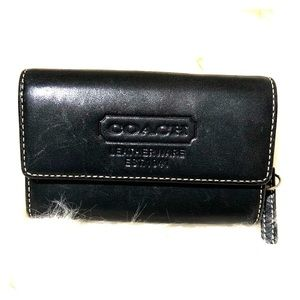 Coach black leather Coin Purse/Wallet
